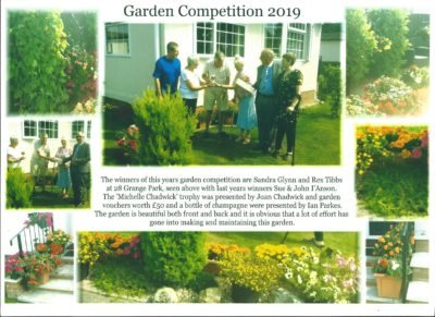 The Oaklands~Grange Annual Garden Competition (2019)